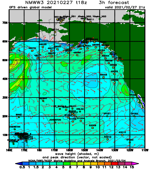 Brazil, Mexico and East Coast USA Wave Height Forecast